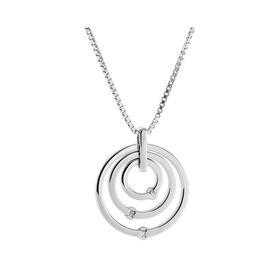 Damen Halskette Silber 925 Diamant 0,021ct - Ketten mit Anhänger Damen | Oro Vivo