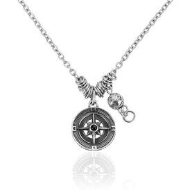 Herren Halskette Edelstahl Kompass -  Herren | Oro Vivo