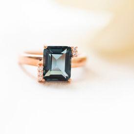 Damenring Silber 925 Rosé Vergoldet Glastein - Ringe mit Stein Damen   Oro Vivo