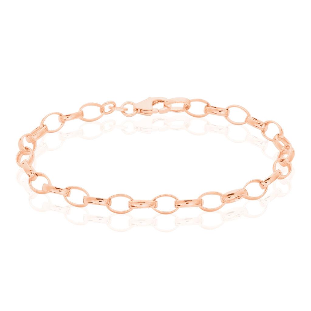 Damenarmband Erbskette Silber 925 Rosé Vergoldet  - Armketten Damen | Oro Vivo