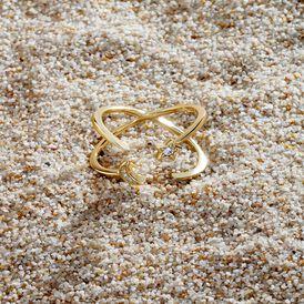 Damenring Silber 925 Vergoldet Stern Halbmond - Ringe mit Stein Damen | Oro Vivo
