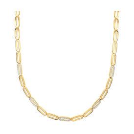 Damen Halskette Vergoldet Zirkonia - Ketten mit Anhänger  | Oro Vivo