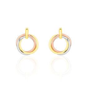 Damen Ohrstecker Gold 585 Tricolor  - Ohrstecker Damen | Oro Vivo