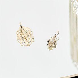 Anhänger Gold 375 Buddha - Schmuckanhänger Damen   Oro Vivo