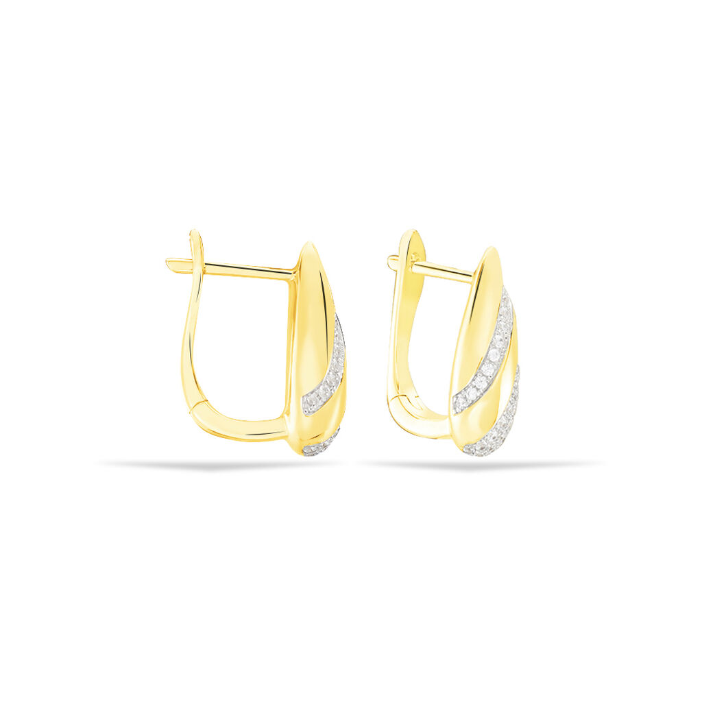 Damen Creolen Gold 375 Zirkonia - Creolen Damen | Oro Vivo