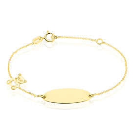 Kinder Id Armband Gold 375 Bär -  Kinder   Oro Vivo