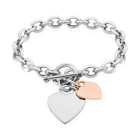 Damenarmband Silber 925 Vergoldet Bicolor Herz - Armbänder Damen | Oro Vivo