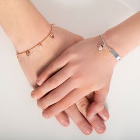 Kinderarmband Silber 925 Rosé Vergoldet Herz - Armbänder Kinder   Oro Vivo