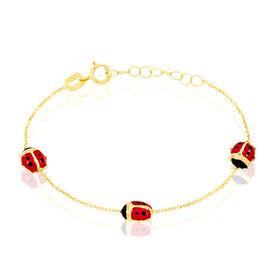 Kinderarmband Gold 375 Marienkäfer - Armbänder Kinder | Oro Vivo