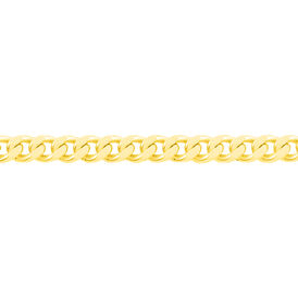 Unisex Panzerkette Gold 375 45cm -  Unisexe | Oro Vivo