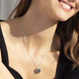 Damen Halskette Silber 925 Rhodiniert Medaillon -  Damen | Oro Vivo