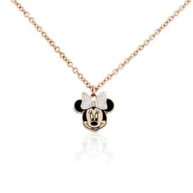 Damen Halskette Edelstahl Rosé Vergoldet Minnie - Ketten mit Anhänger    Oro Vivo