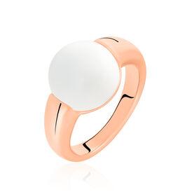 Damenring Edelstahl Rosé Vergoldet Achat - Ringe mit Stein Damen | Oro Vivo
