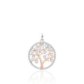 Anhänger Silber 925 Vergoldet Bicolor Lebensbaum - Schmuckanhänger Damen | Oro Vivo