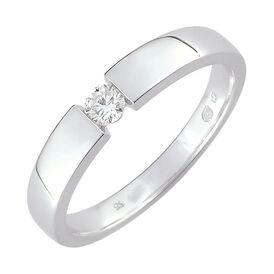 Spannring Weißgold 585 Diamant 0,1ct - Ringe mit Edelsteinen Damen | Oro Vivo