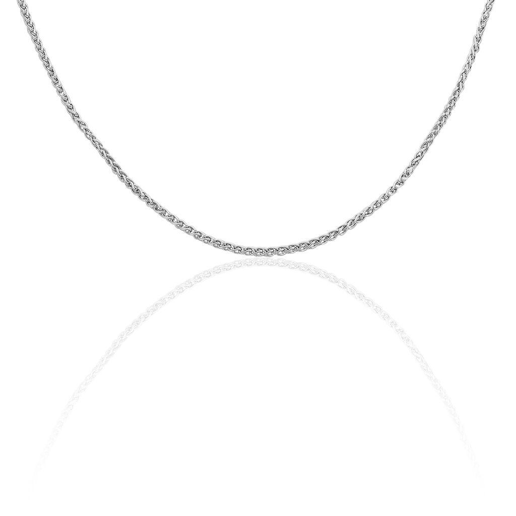 Unisex Zopfkette Silber 925 60cm - Ketten ohne Anhänger Unisexe   Oro Vivo