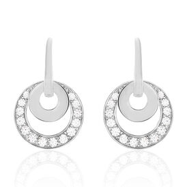 Damen Ohrhänger Lang Silber 925 Zirkonia Kreis -  Damen | Oro Vivo