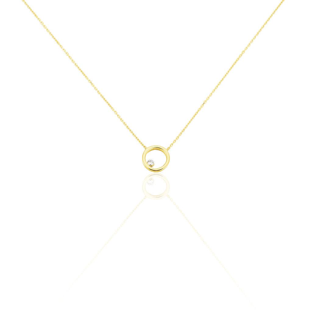Damen Halskette Gold 750 Diamant 0,04ct - Ketten mit Anhänger Damen | Oro Vivo