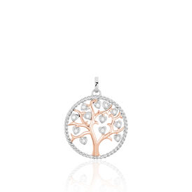 Anhänger Silber 925 Vergoldet Bicolor Lebensbaum -  Damen | Oro Vivo