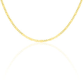 Unisex Stegpanzerkette Gold 333 60cm -  Damen | Oro Vivo
