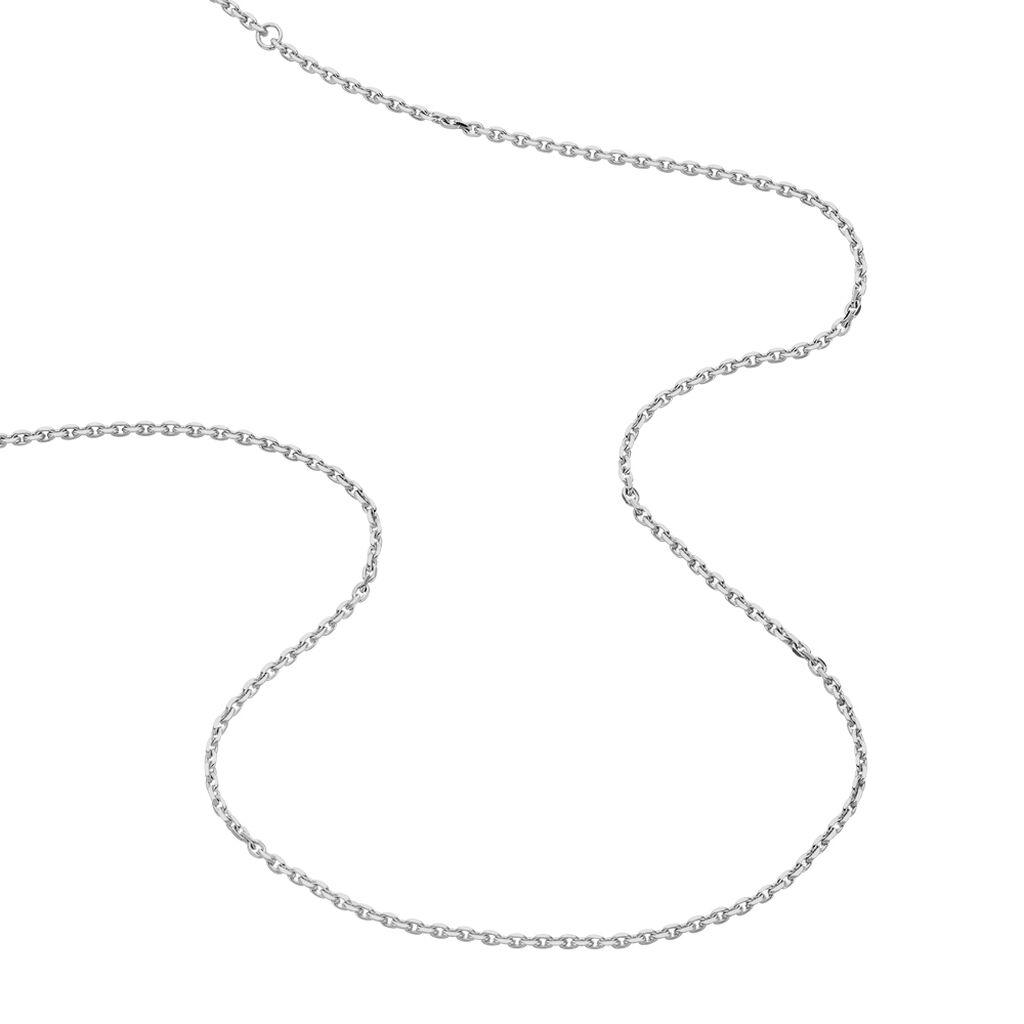 Unisex Ankerkette Silber 925 Diamantiert 50cm - Ketten ohne Anhänger Unisexe | Oro Vivo