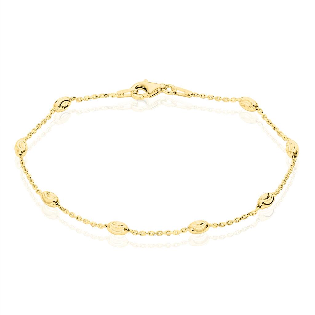 Damenarmband Ankerkette Silber 925 Vergoldet Kugel - Armbänder Damen   Oro Vivo