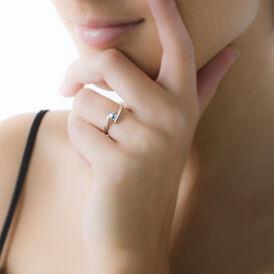 Spannring Weißgold 375 Topas - Ringe mit Stein Damen | Oro Vivo