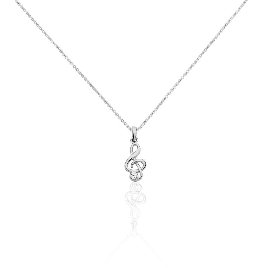 Kinder Halskette Silber 925 Zirkonia - Ketten mit Anhänger Kinder   Oro Vivo