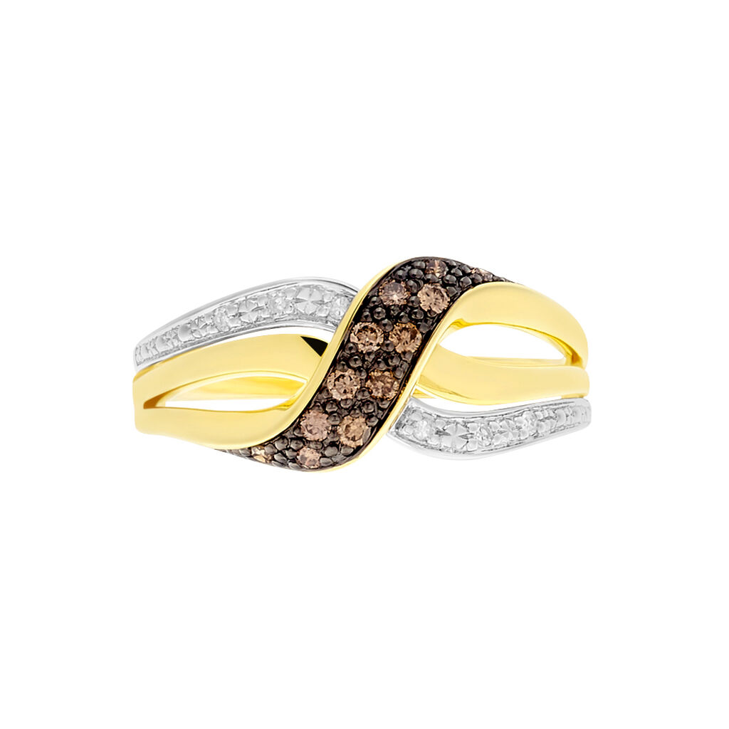 Damenring Gold 585 Diamanten 0,166ct - Ringe mit Edelsteinen Damen   Oro Vivo