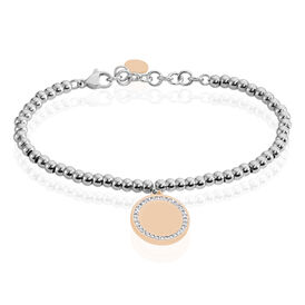 Damenarmband Kugelkette Edelstahl Vergoldet Kreis - Armbänder Damen   Oro Vivo
