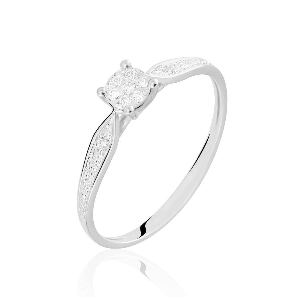 Damenring Weißgold 375 Diamant 0,037 Ct - Black Friday Damen | Oro Vivo