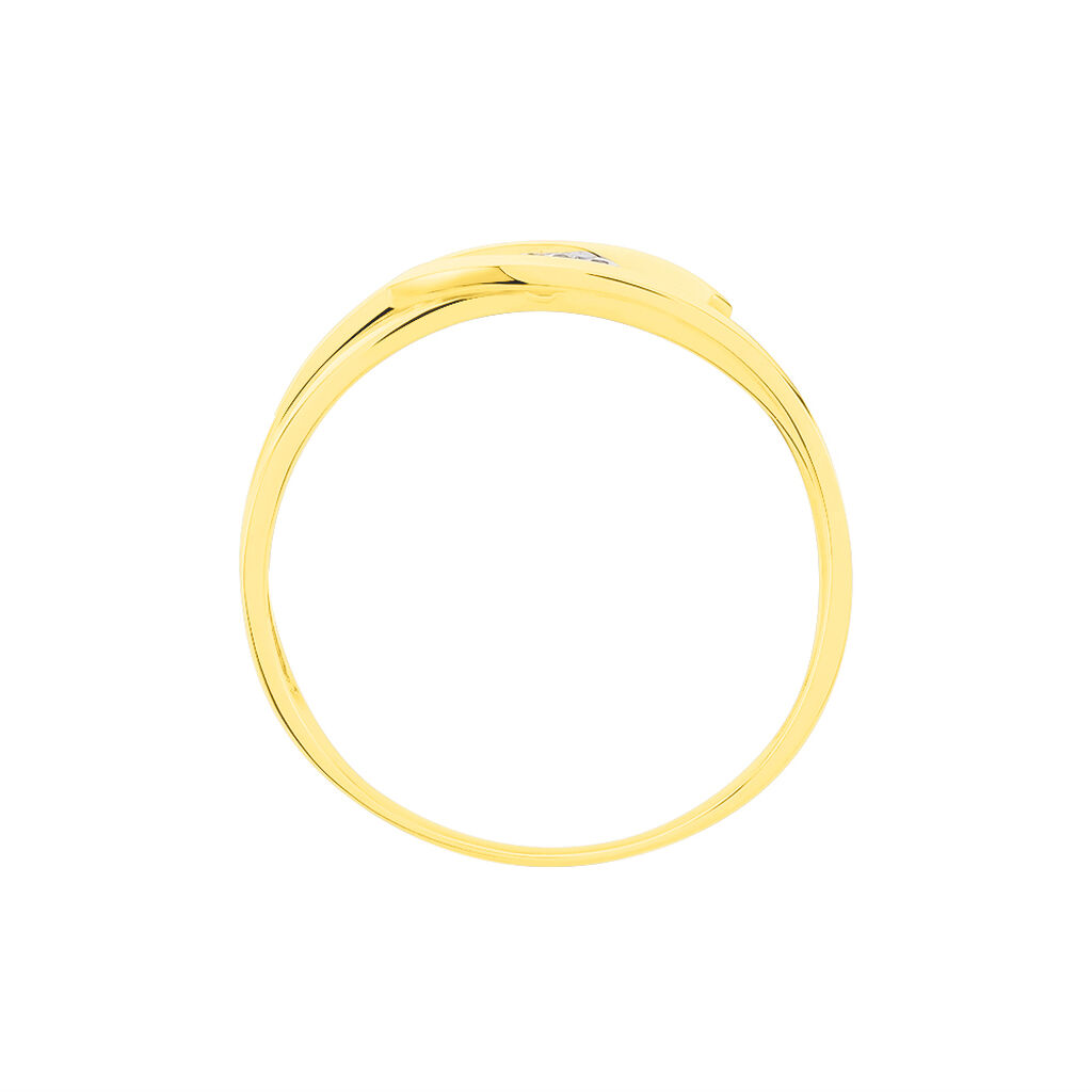 Damenring Gold 585 Bicolor Diamanten 0,029ct - Ringe mit Edelsteinen Damen | Oro Vivo