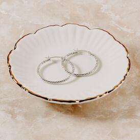 Damen Creolen Silber 925 30mm - Creolen Damen | Oro Vivo