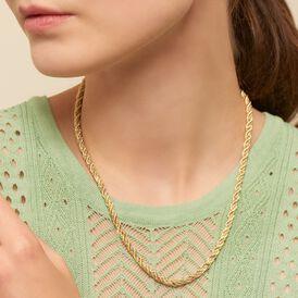 Damen Halskette Gold 585 Bicolor 45cm - Ketten ohne Anhänger Damen | Oro Vivo
