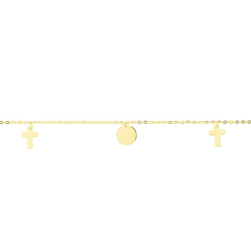 Damen Charmarmband Gold 375 Kreuz - Charmarmbänder Damen | Oro Vivo