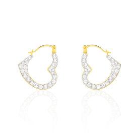 Damen Creolen Gold 375 Swarovski-kristalle Herz -  Damen | Oro Vivo