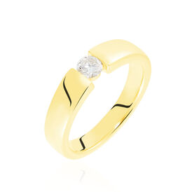 Spannring Gold 375 Diamant 0,2ct  - Ringe mit Edelsteinen Damen | Oro Vivo