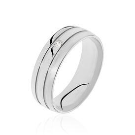 Damen Ehering Silber 925 Zirkonia - Eheringe Damen | Oro Vivo