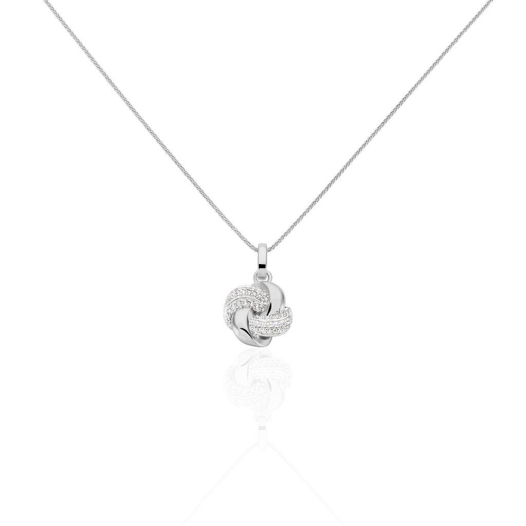 Damen Halskette Silber 925 Zirkonia Knoten - Ketten mit Anhänger Damen | Oro Vivo