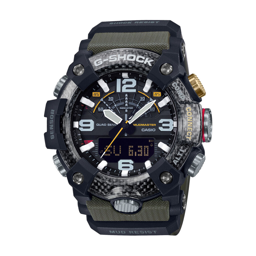 Casio G-shock Herrenuhr Gg-b100-1a3er Digital - Analog-Digital Uhren Herren   Oro Vivo