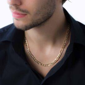 Herren Figarokette Gold 375 50cm - Ketten ohne Anhänger Herren | Oro Vivo