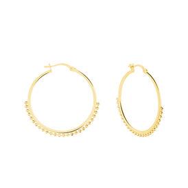 Damen Creolen Silber 925 Vergoldet 30mm - Creolen Damen   Oro Vivo
