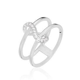 Damenring Silber 925 Zirkonia Infinity - Ringe mit Stein  | Oro Vivo