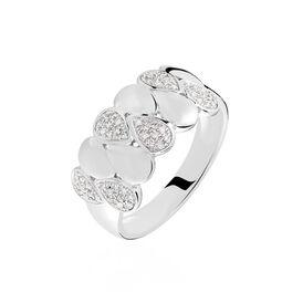 Damenring Weißgold 375 Diamanten 0,146ct - Ringe mit Edelsteinen Damen | Oro Vivo