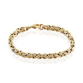 Damenarmband Edelstahl Vergoldet Königskette - Armketten Herren | Oro Vivo