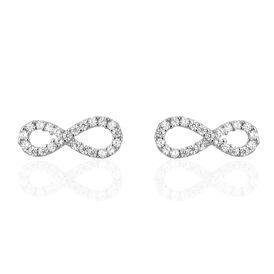 Damen Ohrstecker Silber 925 Zirkonia Infinity -  Damen | Oro Vivo