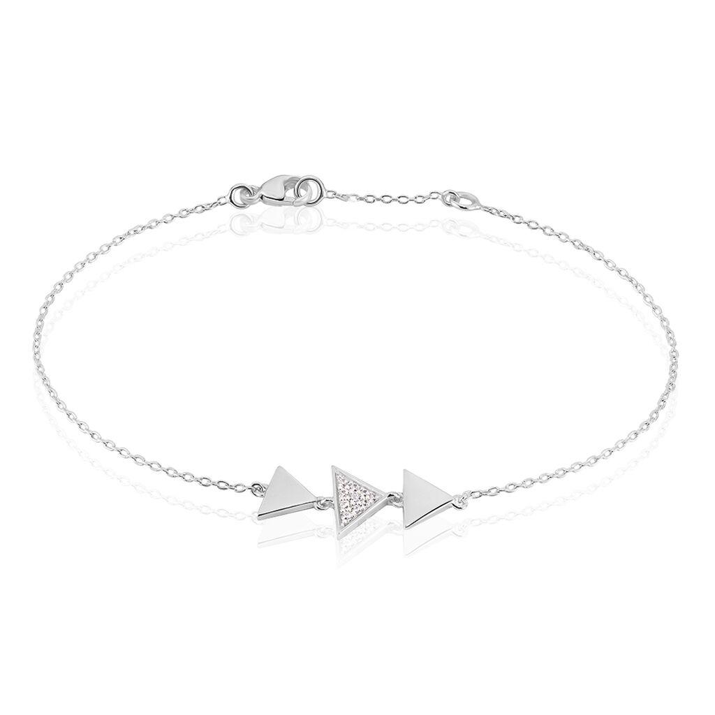 Damenarmband Silber 925 Zirkonia Dreieck - Armbänder Damen | Oro Vivo