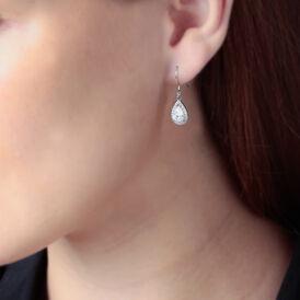 Damen Ohrhänger Silber 925 Zirkonia Tropfen - Ohrhänger Damen | Oro Vivo