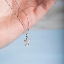 Kinder Halskette Silber 925 Zirkonia Engel - Ketten mit Anhänger Kinder   Oro Vivo
