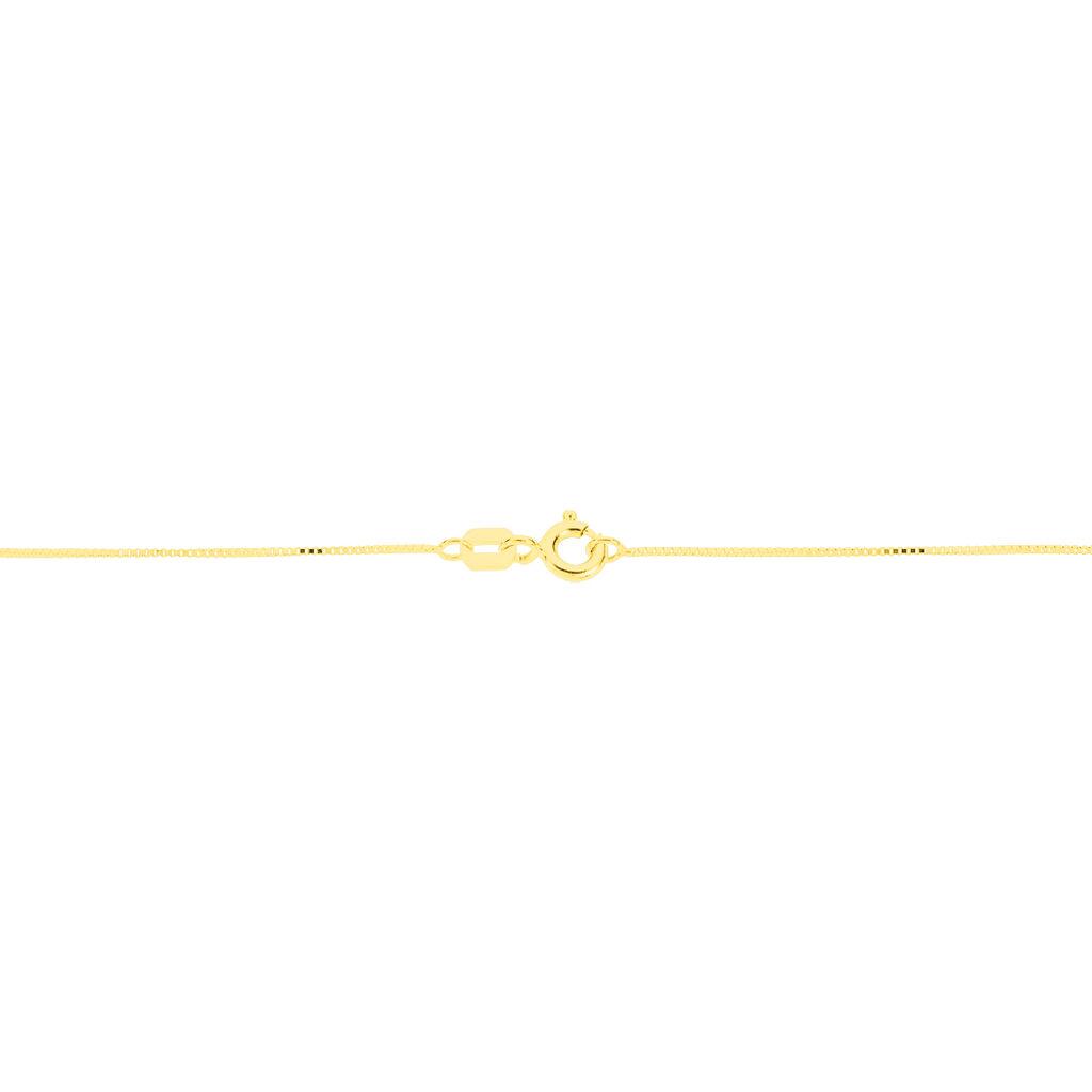 Damen Halskette Gold 375 Topas - Ketten mit Anhänger Damen | Oro Vivo